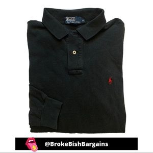 Polo Ralph Lauren Long Sleeve Black Shirt Red Pony